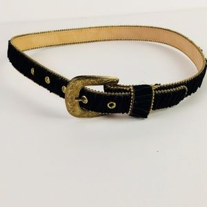 Accessories - Gold Velvet Western Belt